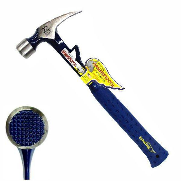 Estwing-HAMMERTOOTH-22oz-Milled-Face-Hammer-SHOCK-REDUCTION-GRIP-E6-22T